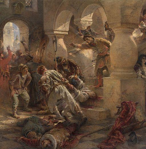 Konstantin_Makovsky,_The_Murder_of_False_Dmitry_-_detail_01